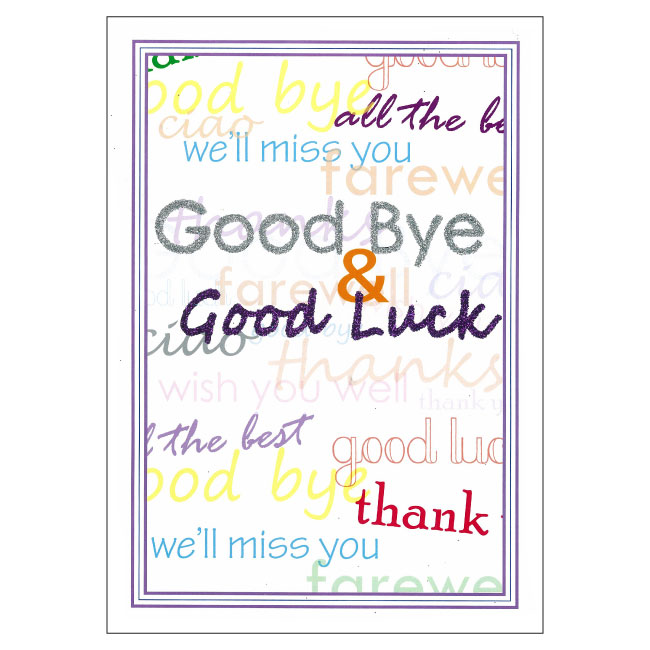 Bc09 good bye and good luck wishes big card m4hsunfo