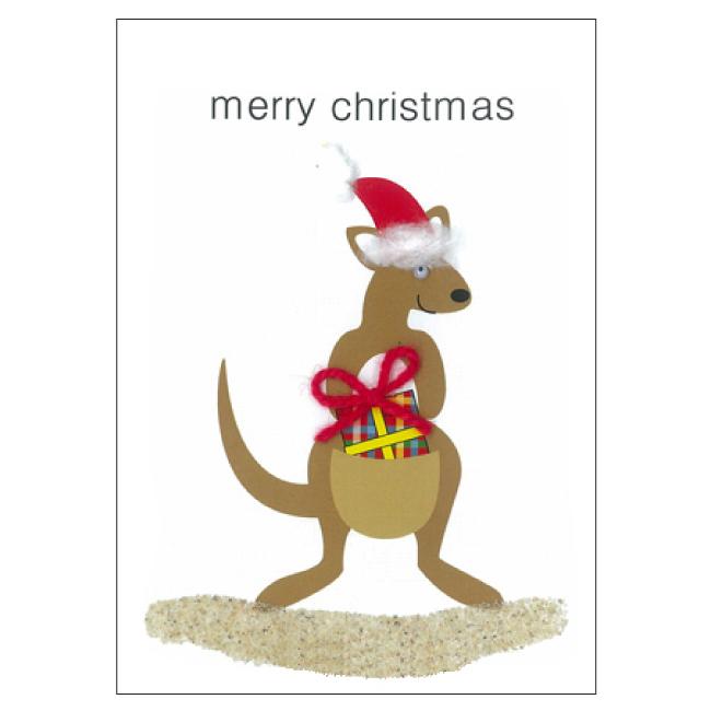 Christmas Kangaroo Cartoon.Cs62 Christmas Kangaroo