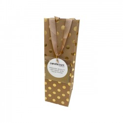 GB01B Gold Spot Gift Bag Bottle