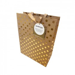 GB01L Gold Spot Gift Bag Large
