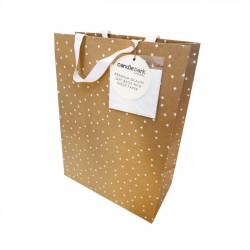 GB02L White Star Gift Bag Large