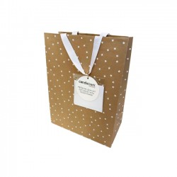 GB02M White Star Gift Bag Medium