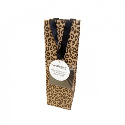 GB03B Leopard Print Gift Bag Bottle