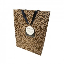 GB03L Leopard Print Gift Bag Large