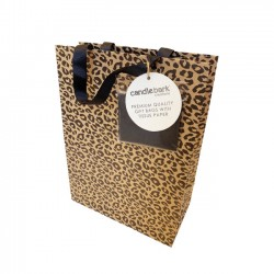 GB03M Leopard Print Gift Bag Medium